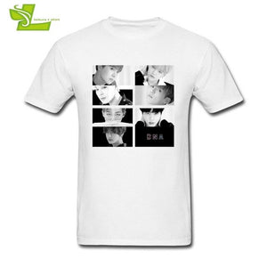 BTS T Shirt Teenage  Leisure Customized Loose T-Shirts Men's Short Sleeve