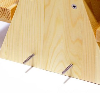 Mounting Screws on Squirrel Feeder Picnic Table