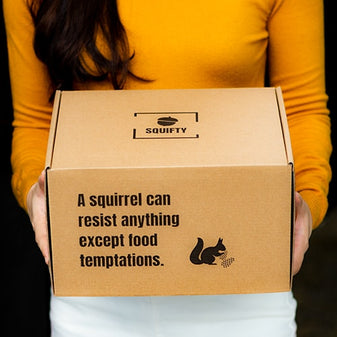 Squifty Squirrel Feeder Picnic Table Gift Box