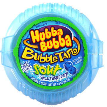 Hubba Bubba Tape Sour Blue Raspberry