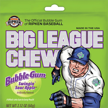 Big League Chew Swingin Sour Apple