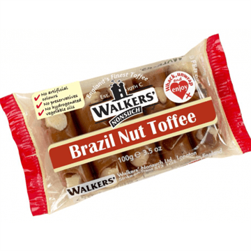 Walkers Brazil Nut Toffee Slab