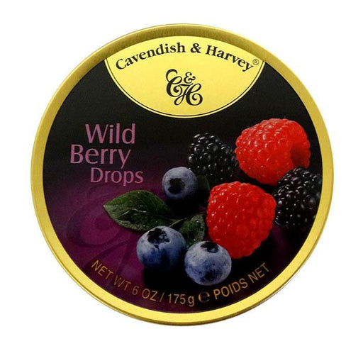 Cavendish & Harvey Wild Berry Drops Tin Bulk