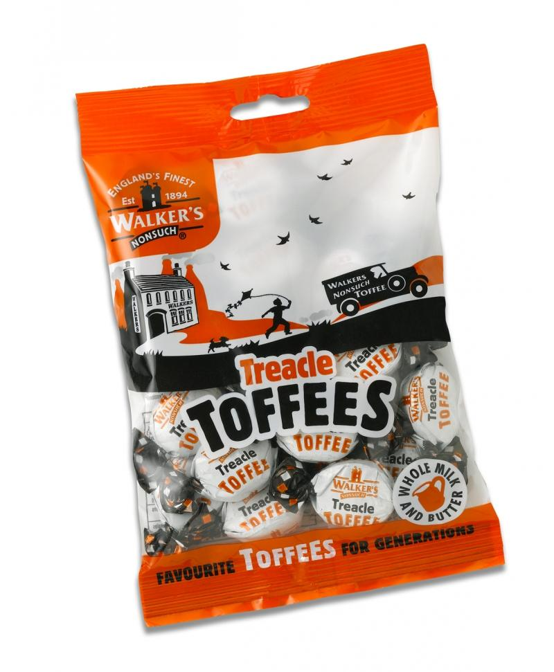 Walkers Treacle Toffees Hangsell 150g