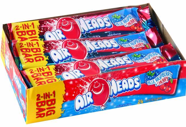 Airheads Big Bar Blue Raspberry & Cherry Bulk
