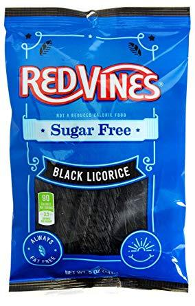 Sugar Free Red Vines Black Licorice 141g