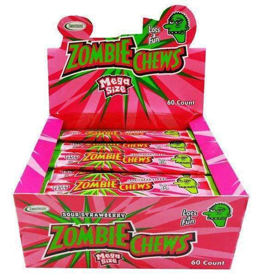 Zombie Chews Sour Strawberry Large Bulk