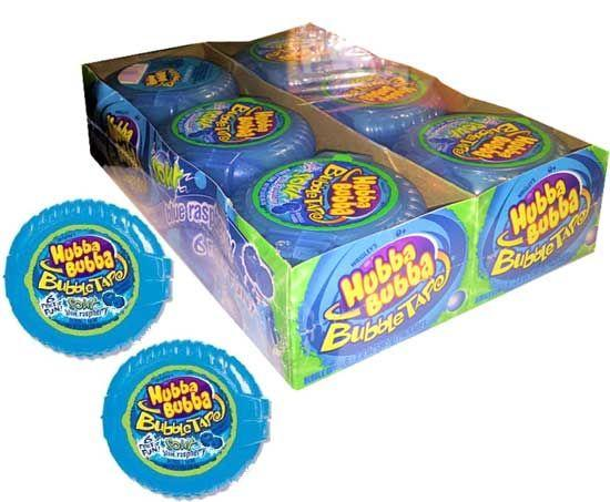 Hubba Bubba Sour Blue Raspberry Tape Bulk
