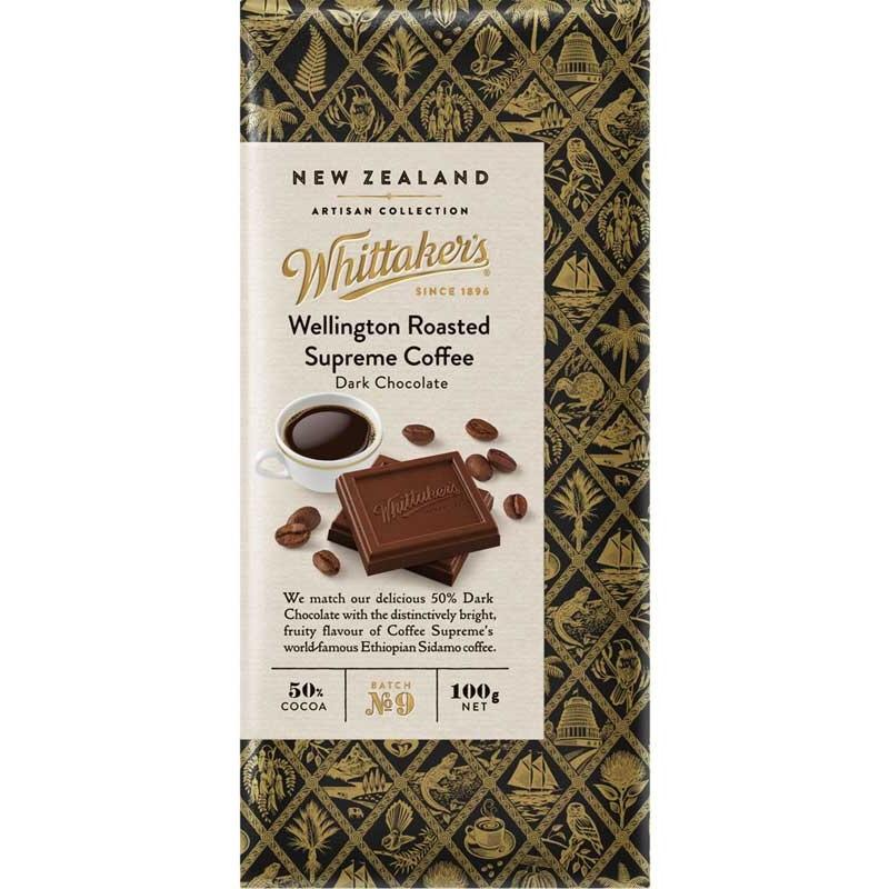 Whittakers Wellington Roasted Supreme Coffee bar