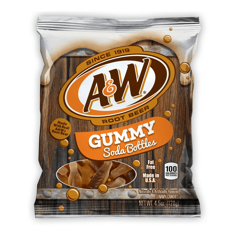 A&W Root Beer Soda Gummy Bottles