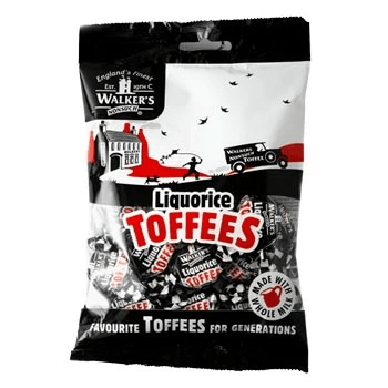 Walkers Liquorice Toffees Hangsell 150g