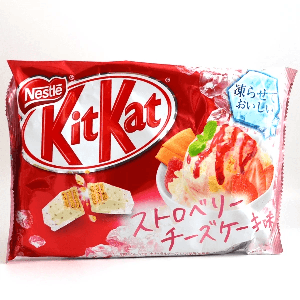 Kit Kat Mini Strawberry Cheesecake
