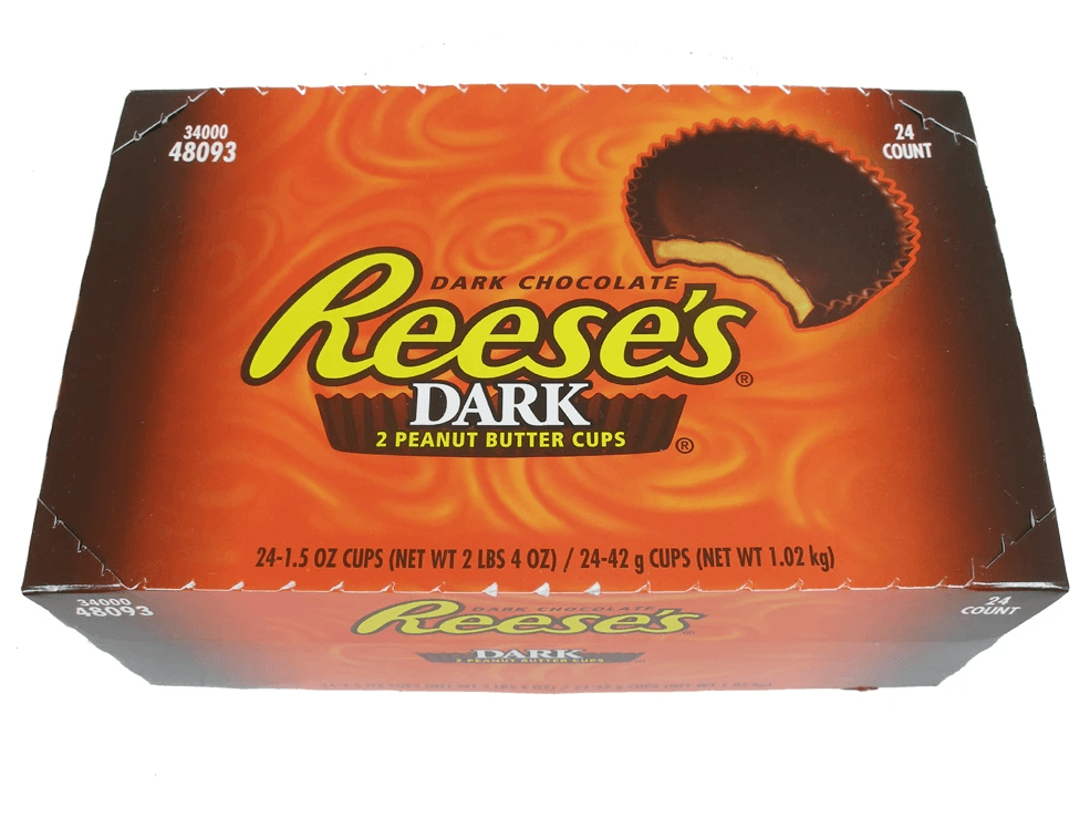 Reeses Peanut Butter Cups Dark Box