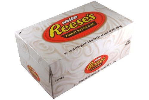 Reeses Peanut Butter Cups White Box