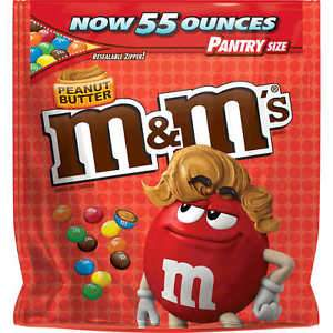 M&M Peanut Butter Pantry Size Bag