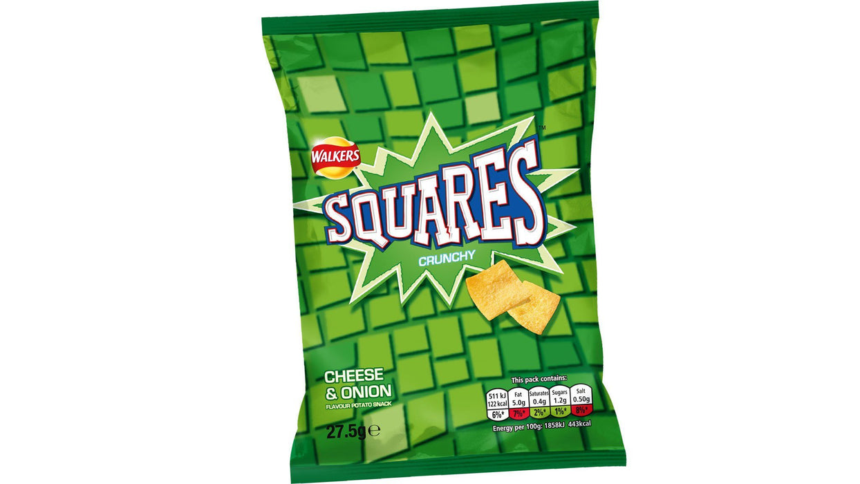 Walkers Squares Cheese & Onion Bulk