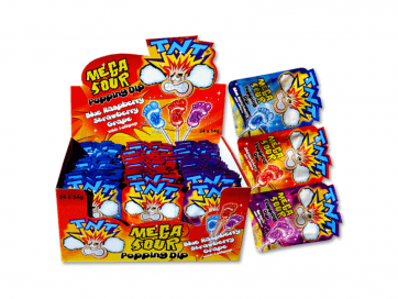 TNT Mega Sour Popping Candy Dip
