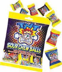 TNT Sour Chew Ball Bag 150g Bulk
