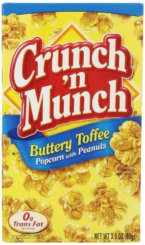 Crunch 'n Munch Buttery Toffee Popcorn with Peanuts 99g
