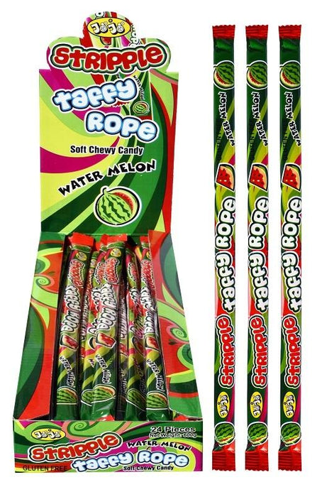Stripple Taffy Rope Watermelon Bulk