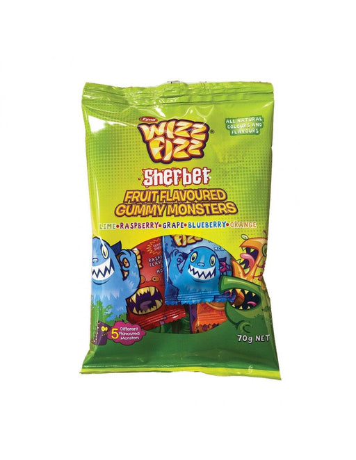 Wizz Fizz Gummy Monsters 70g Bulk