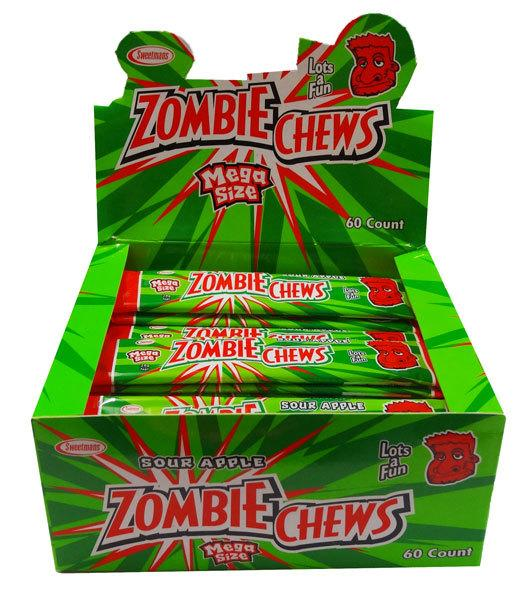 Zombie Chews Sour Apple Large Bulk