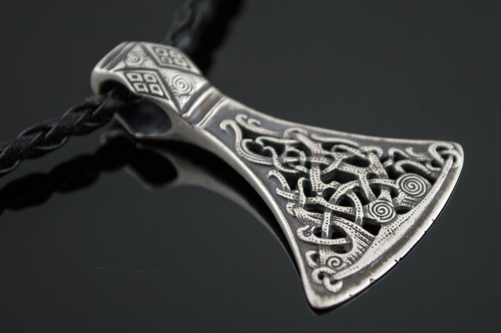 Viking Axe Sterling Silver Pendant from Mammen Village - Viking-Handmade