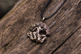 Yggdrasil World Tree Bronze Pendant Norse Jewelry - Viking-Handmade