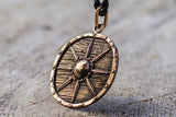 Vikings Shield Pendant Unique Bronze Viking Necklace - Viking-Handmade