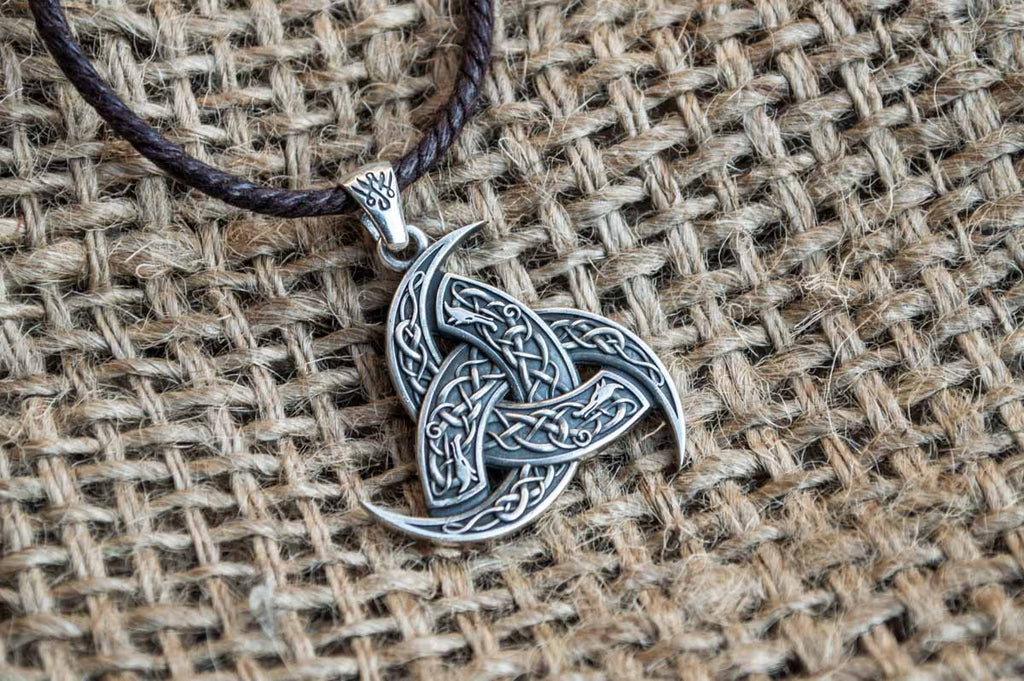 Odin Horn Pendant Sterling Silver Unique Jewelry - Viking-Handmade