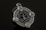 Yggdrasil The World Tree Pendant with Norse Symbols Sterling Silver Viking Jewelry - Viking-Handmade