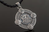 Sleipnir Pendant with Norse Symbols Sterling Silver Viking Jewelry - Viking-Handmade