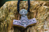 Thor's Hammer Pendant Sterling Silver Mjolnir Norse Jewelry - Viking-Handmade