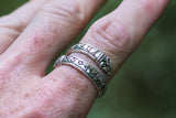 Ouroboros Ring with Elder Futhark Runes - Viking-Handmade