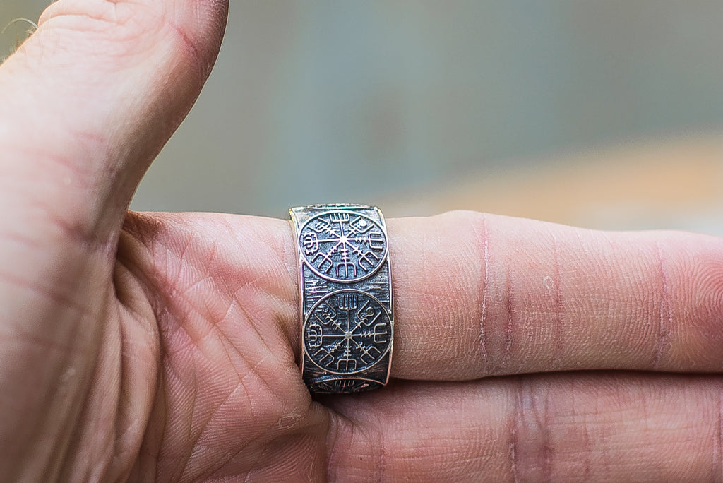 Vegvisir Runic Compass Sterling Silver - Viking-Handmade