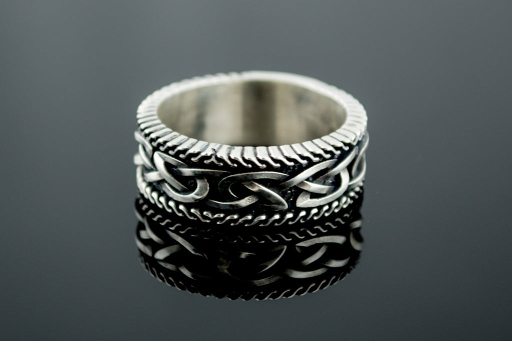 Unique Viking Ring with Norse Ornament - Viking-Handmade