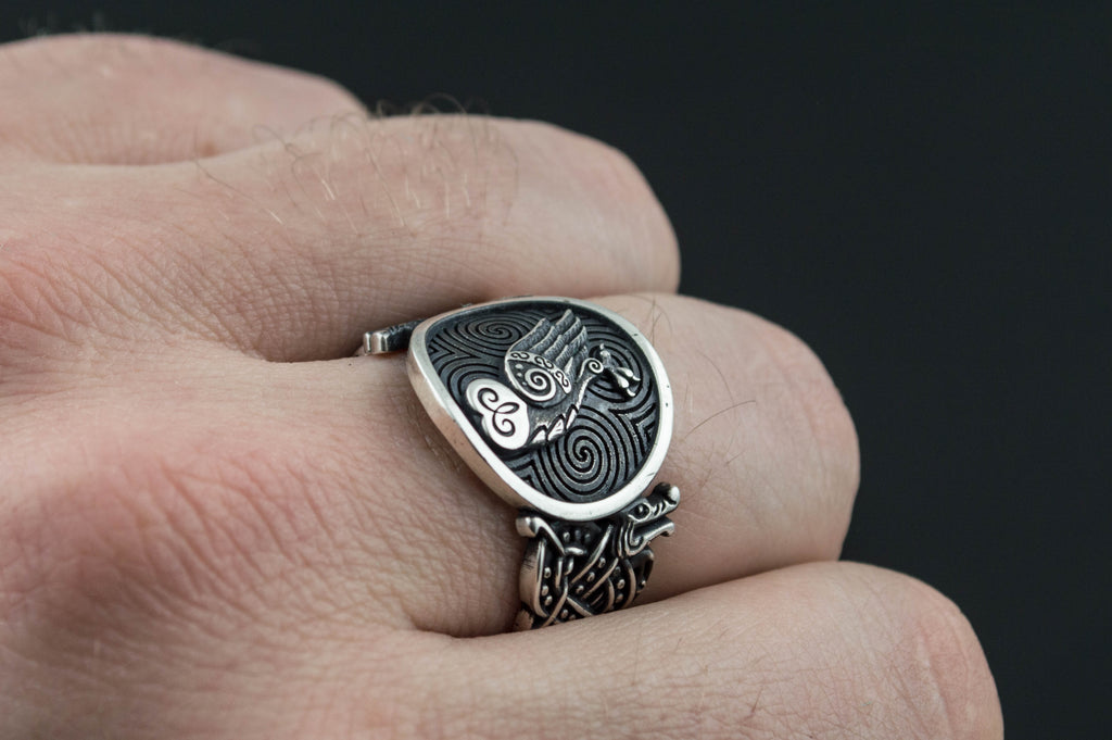 Owl Symbol with Viking Ornament - Viking-Handmade