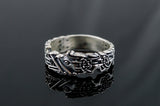 Fenrir Ring Handcrafted Sterling Silver - Viking-Handmade