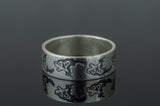 Ring with Wolf Ornament Handmade - Viking-Handmade