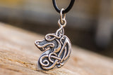 Celtic Wolf Sterling Silver Animal Pendant - Viking-Handmade