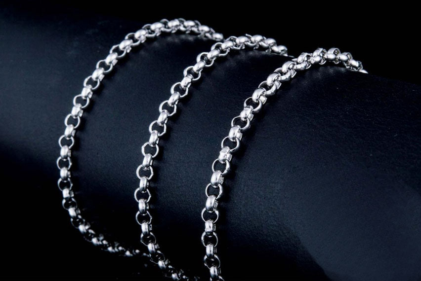 Chains and Sets 925 Sterling Silver Chain Necklace 3-4 mm - Viking-Handmade