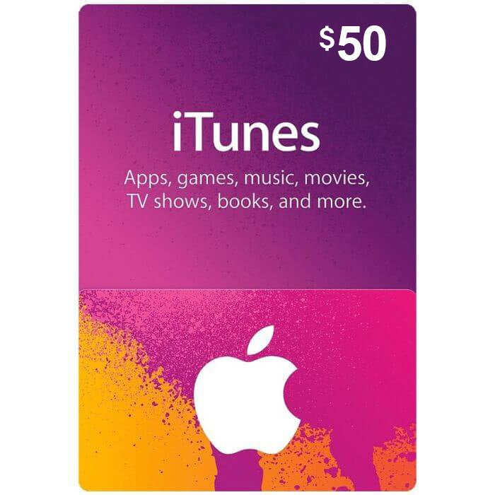 iTunes Gift Card - 50 USD