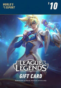 League of Legends Gift Card - 10USD