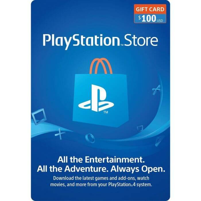 Play Station Store Gift Card -  100 USD