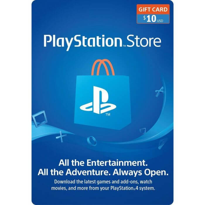 Play Station Store Gift Card - 10 USD