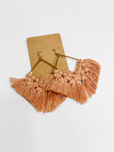 Blush Macrame Square