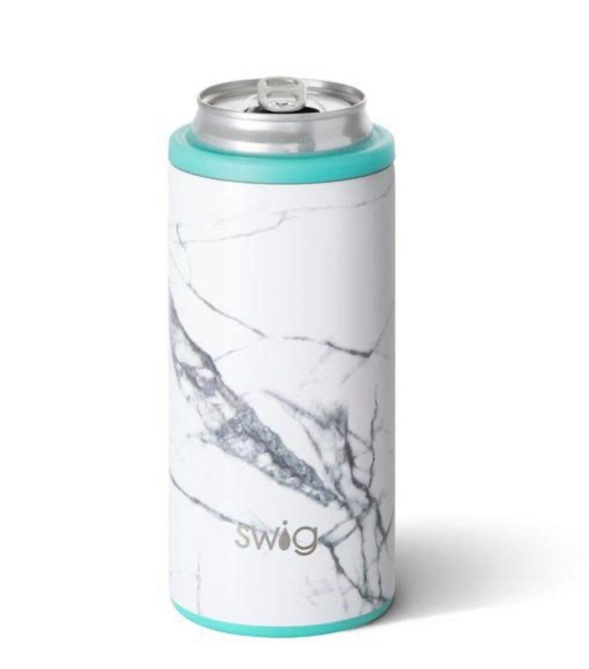 Marble - Swig 12oz Skinny Can Cooler
