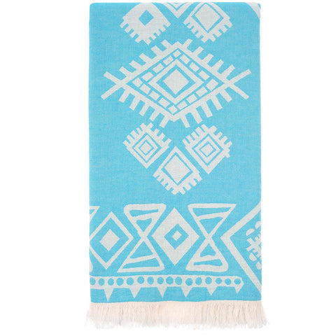 Turquoise Tribal Turkish Beach Towel