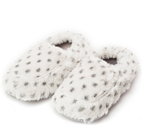 Warmies Gray Polka Dot Slippers