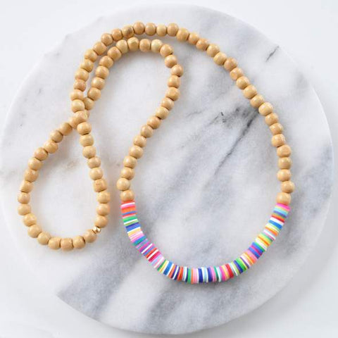 Summer Brights Beaded Necklace